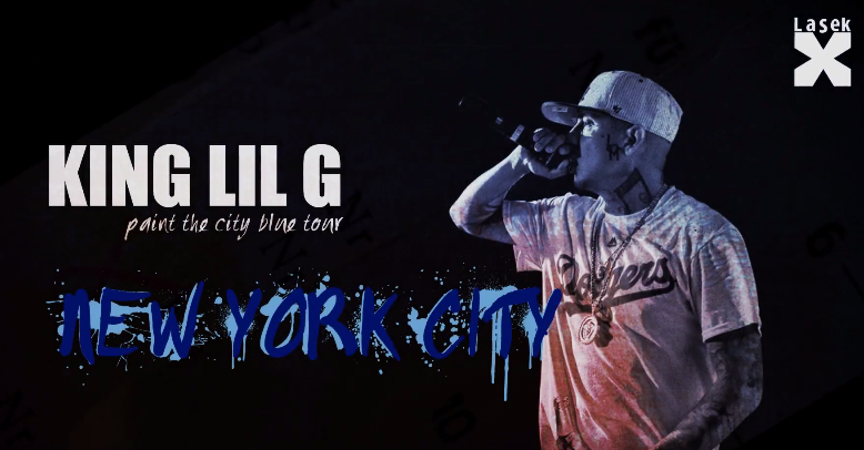King Lil G -Paint The City Blue Tour-New York City